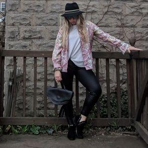 Pants - Black faux leather leggings!